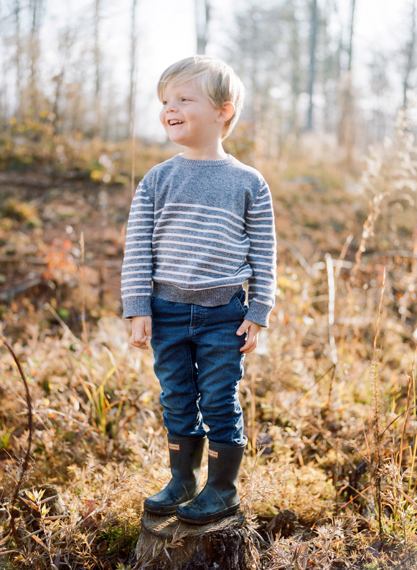 Toddler in Hunter Boots - photo by Kat Braman