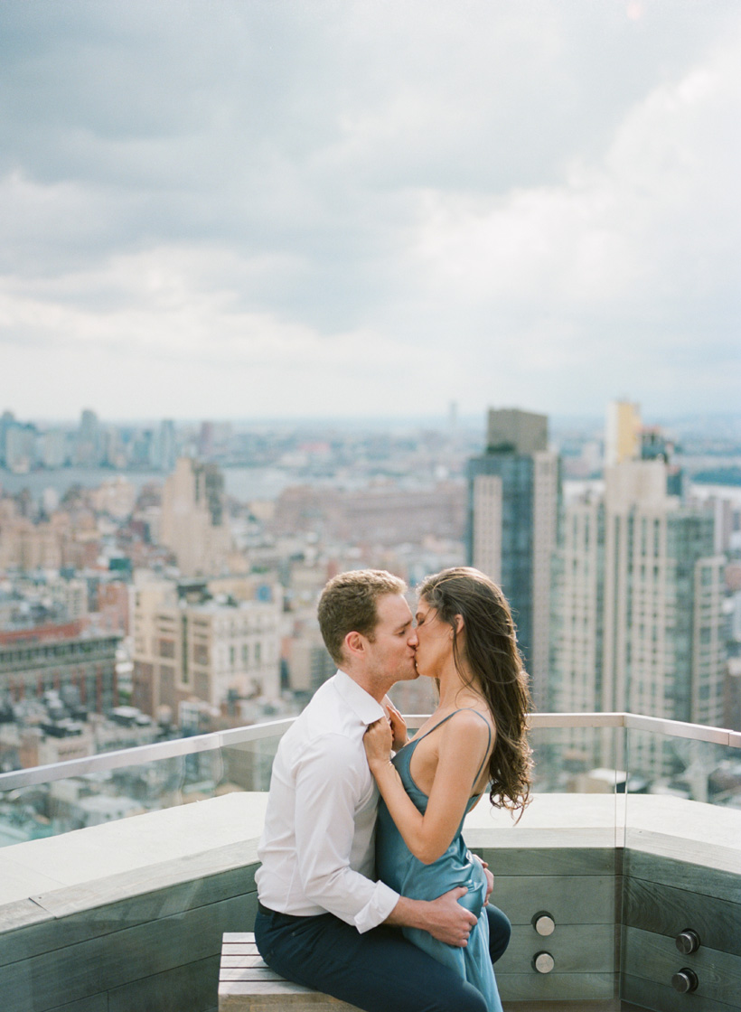 Rooftop Engagement Photos in Manhattan