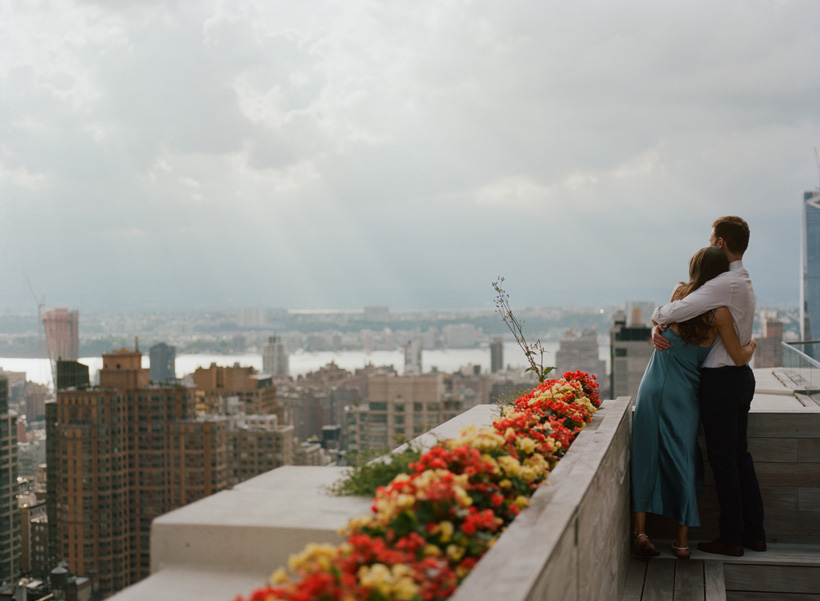 Chelsea Rooftop Engagement Photos