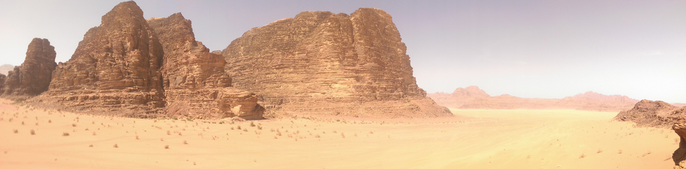 The scenery at Wadi Rum.