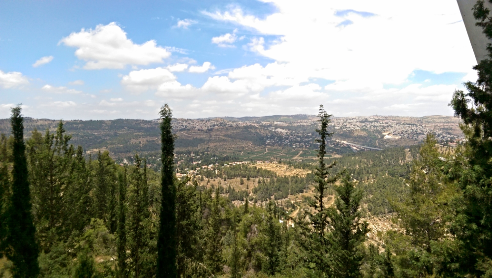 View from Yad Vashem's perch on Mount Herzl in Jerusalem.