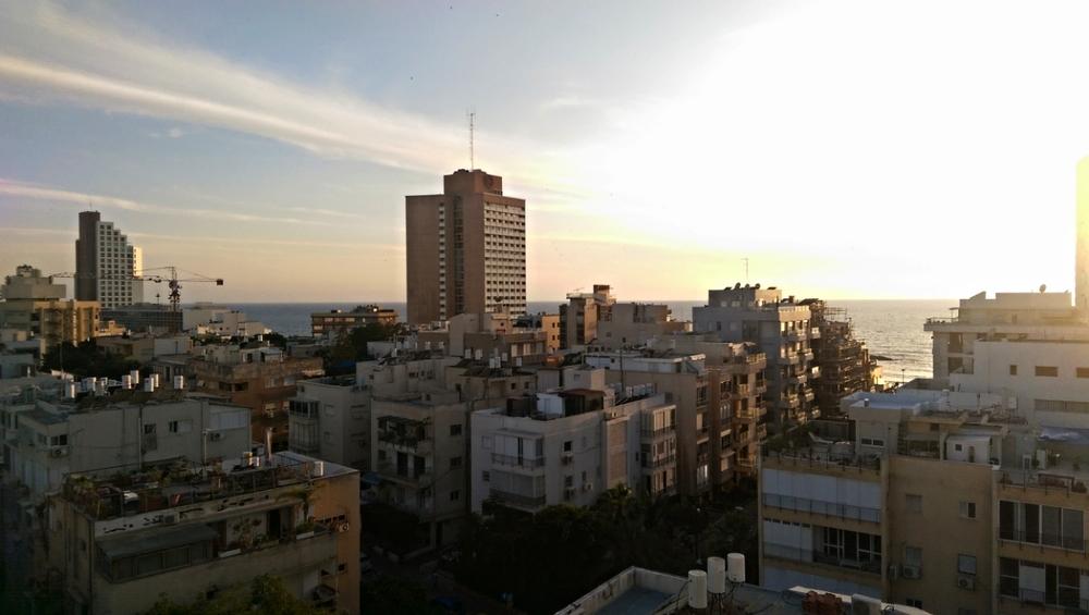 Spending the final night back where it all began: Tel Aviv.