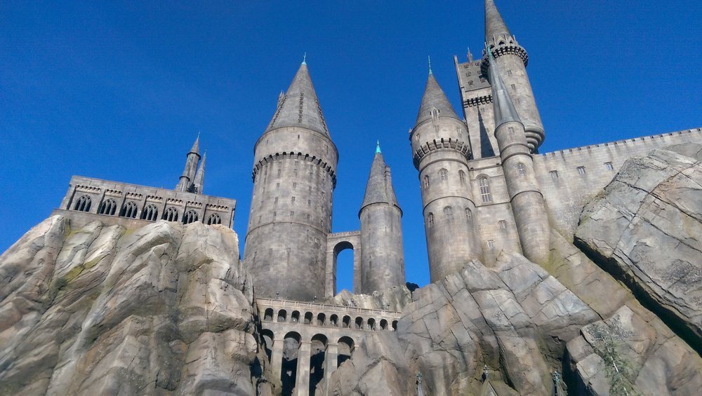 Hogwarts School of Witchcraft & Wizardry, as seen at Universal Studios Hollywood in March 2016.