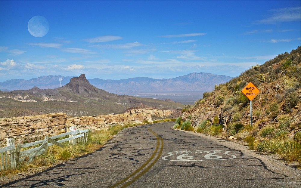 A portion of Route 66 running through Arizona. (Image:  Pixabay )