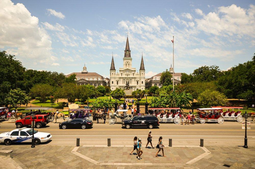New Orleans' Jackson Square (Image:  Pixabay )