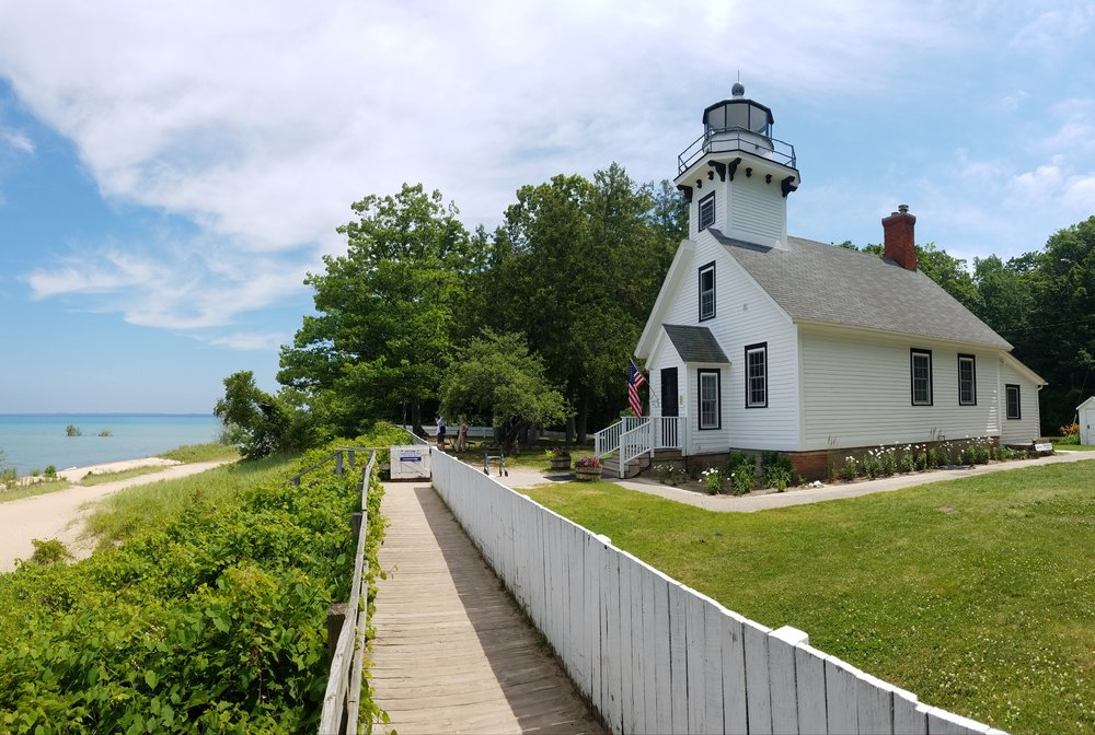 Old Mission Lighthouse, which operated from 1870 to 1933