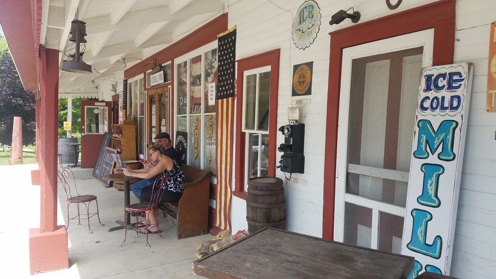 Front porch of the Old Mission General Store