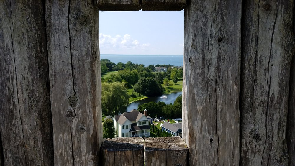 Like looking through a window in time ...or maybe just a place to fire your musket from? Actually, put the musket down, they're letting people  fire one of the fort's cannons  these days.
