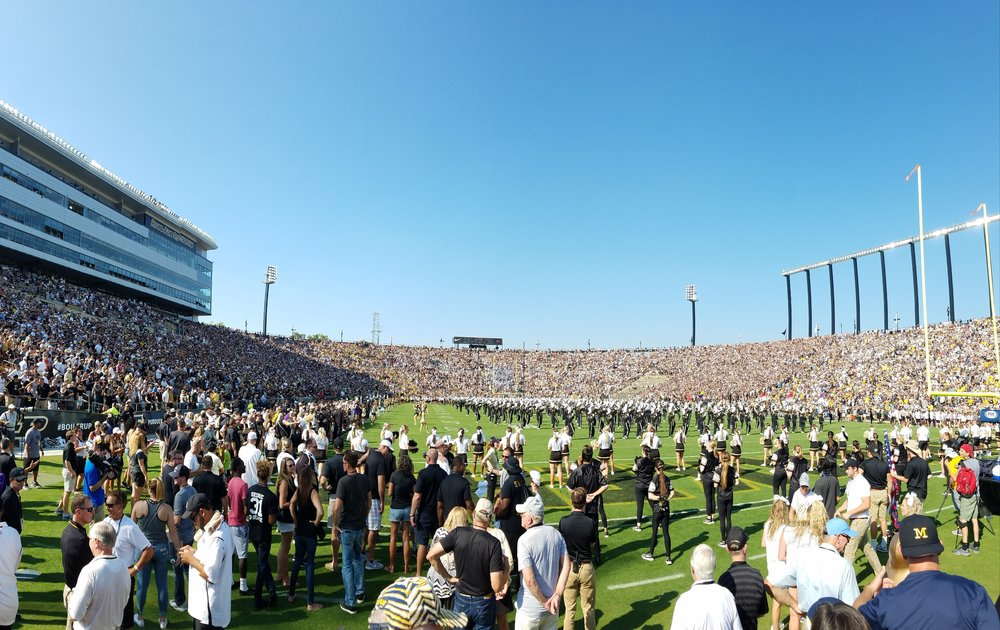 Ross-Ade Stadium, home of the Purdue University Boilermakers, had a sold-out crowd on Saturday for their game against Michigan.