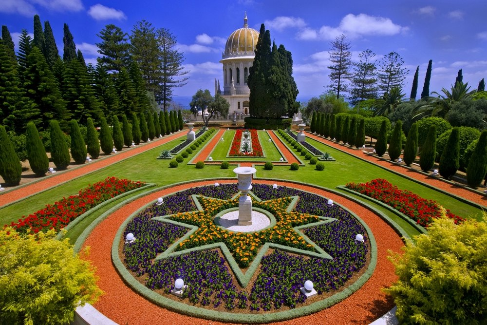 Behold, the Bahá'í Gardens and the Shrine of the Báb in Haifa, Israel (Image:  Wikimedia Commons )
