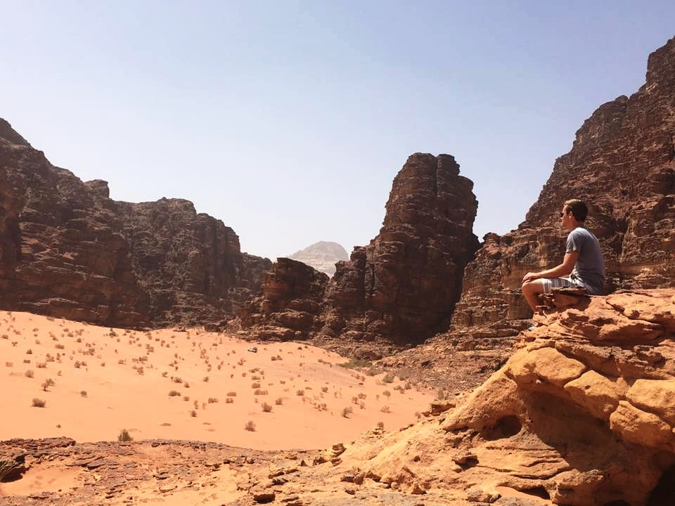 Taking a breather in Wadi Rum, a desert in Jordan (Photo: Alexa Smith)