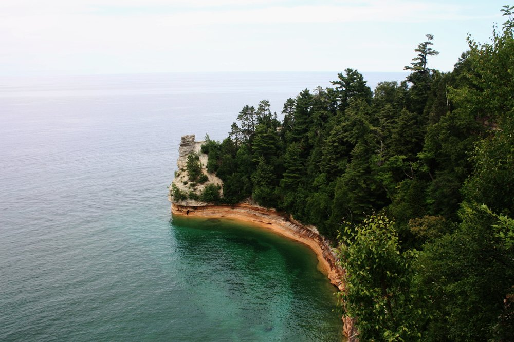 While viewing Miners Castle by boat is a pleasant enough experience, you can also drive just east of Munising and head down Miners Castle Road where the National Park Service maintains a pair of scenic overlooks and a visitors center. Resist the urge to jump the railing and climb up onto the Castle, however — you'd probably rather not end up like  the man who was fined $690  for doing just that earlier this year.