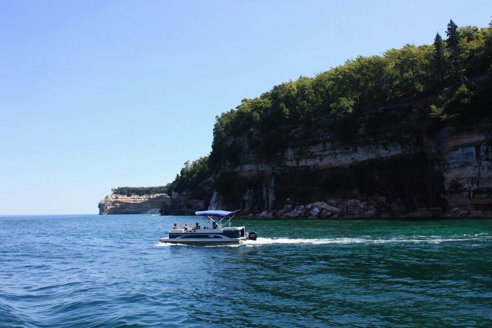 In addition to boat and kayak tours, visitors to the lakeshore also have the option of renting a pontoon to cruise past the painted rocks at their own leisure. A couple of outfits offering rentals include  Superior Pontoon Rentals  and  Seaberg Pontoon Rentals .