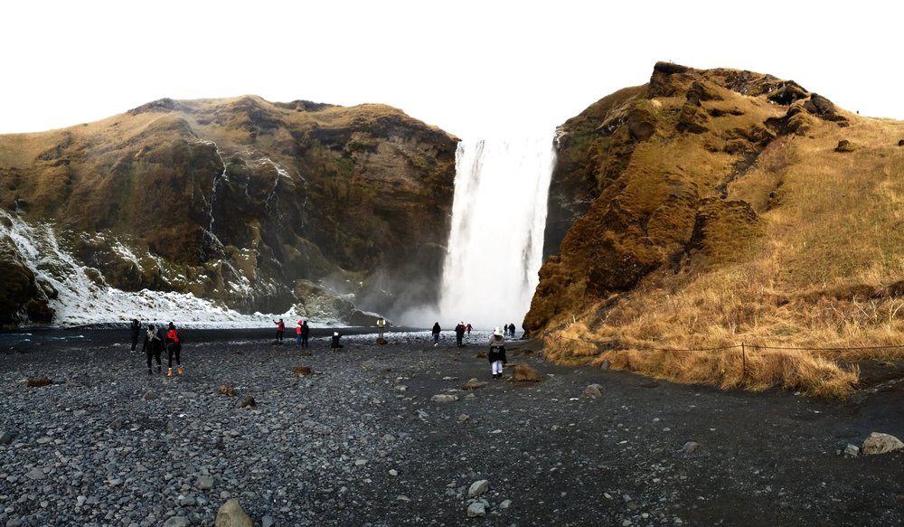Look at all these people ruining a perfectly good picture of Skógafoss #smh