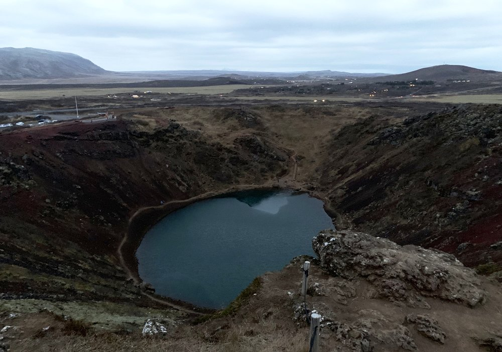 The Kerið crater extends 180 feet down where it meets the water table (Photo: Ryan Pienta)