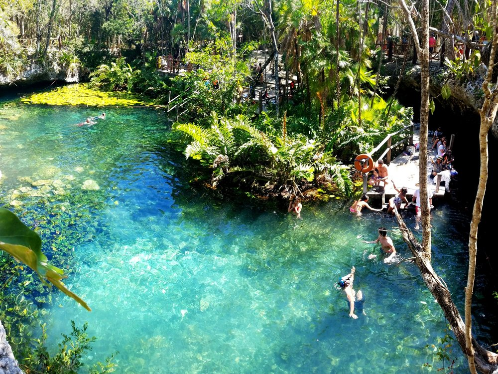Come on in, the water's fine at Cenote Dos Ojos