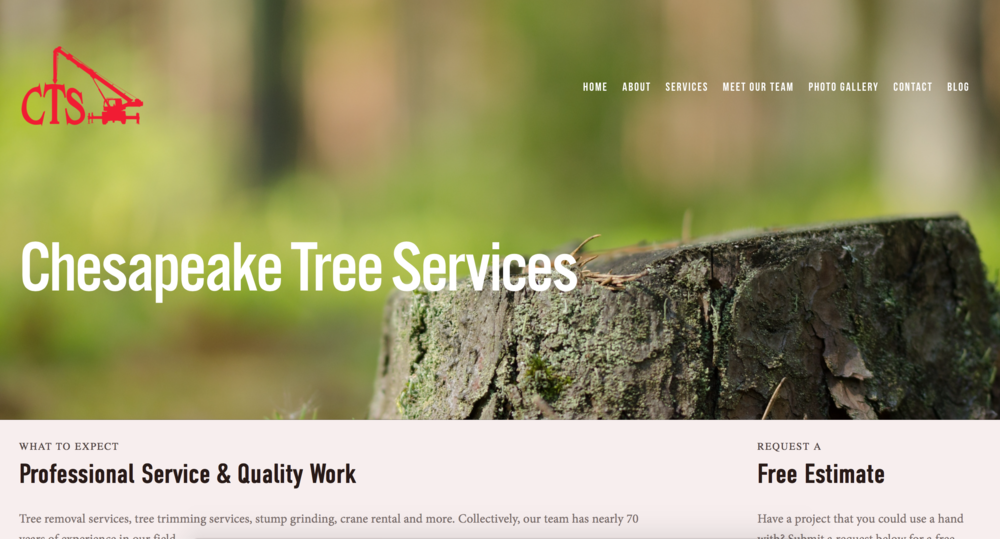 Chesapeake Tree Services, LLC - Weems, Virginia | Click the image for full website.