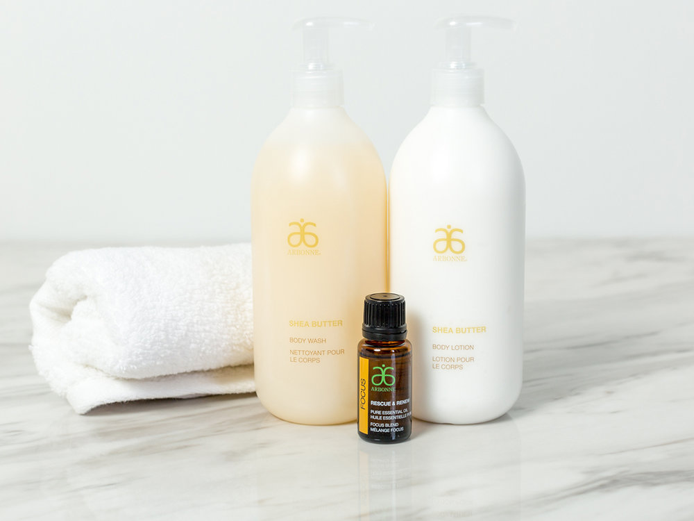 Shea Butter Favorites - Give the gift of non-toxic daily body wash and lotion. Arbonne's products are concentrated (no fillers here!) and last a long time.