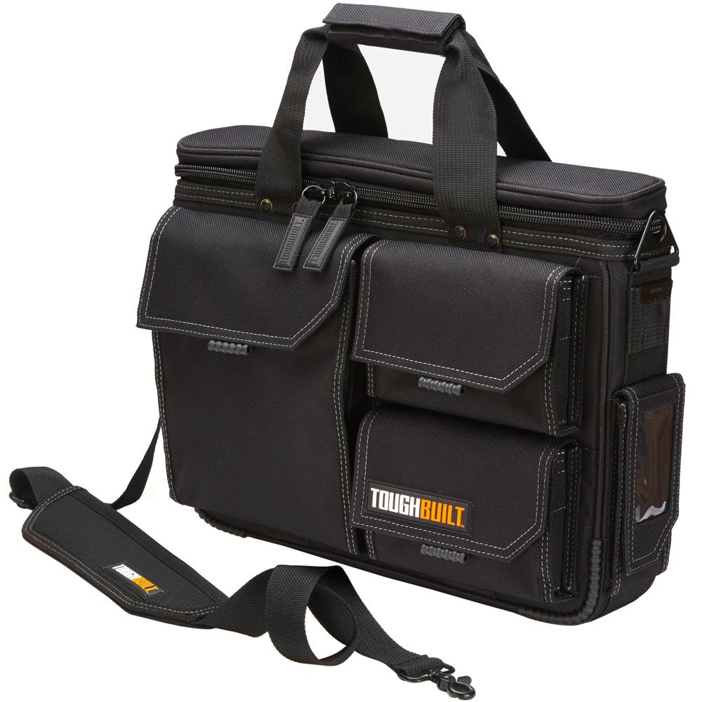 Quick access laptop bag shoulder strap medium toughbuilt for Construction organizer notebook