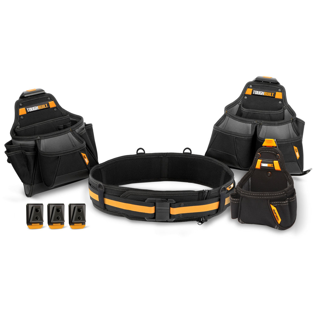 4pc Contractor Tool Belt Set Toughbuilt