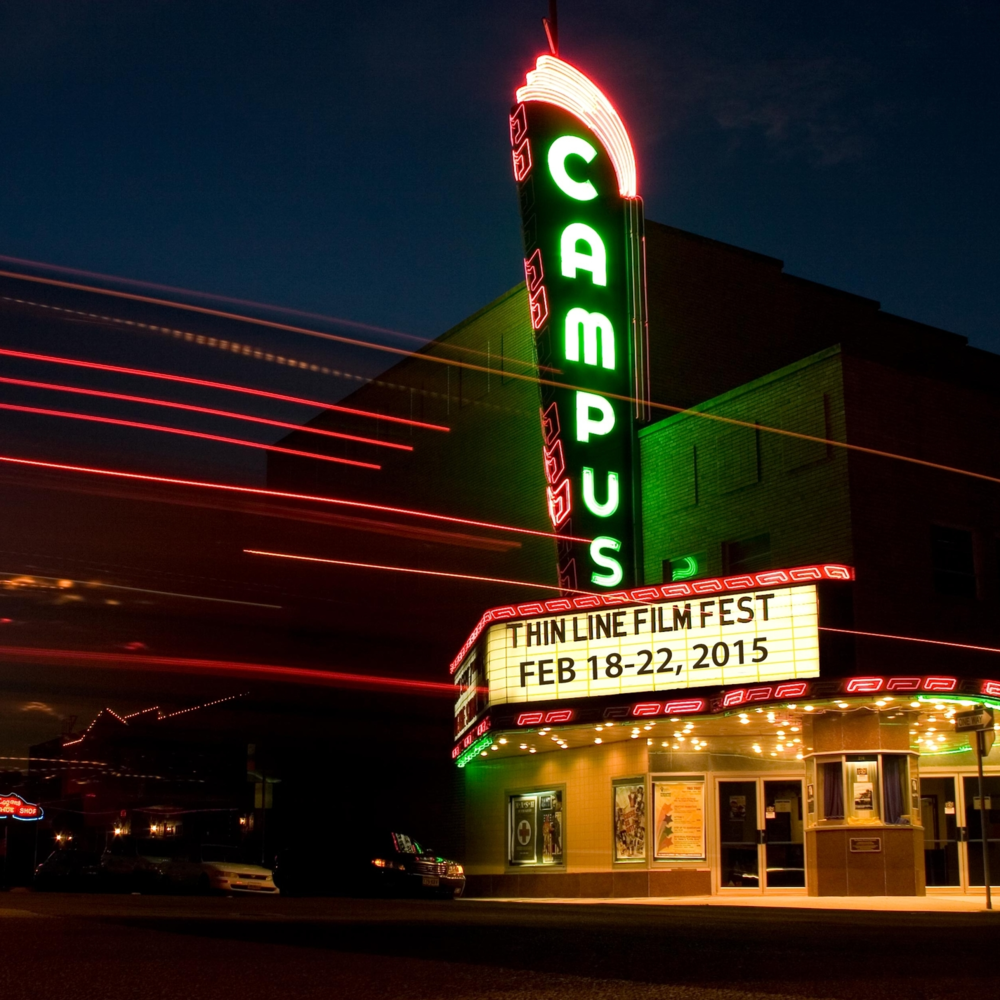 FILMS  Experience the best of cinema with Thin Line Fest, Denton Black Film Festival, and film screenings at the Arts Center and Campus Theatre