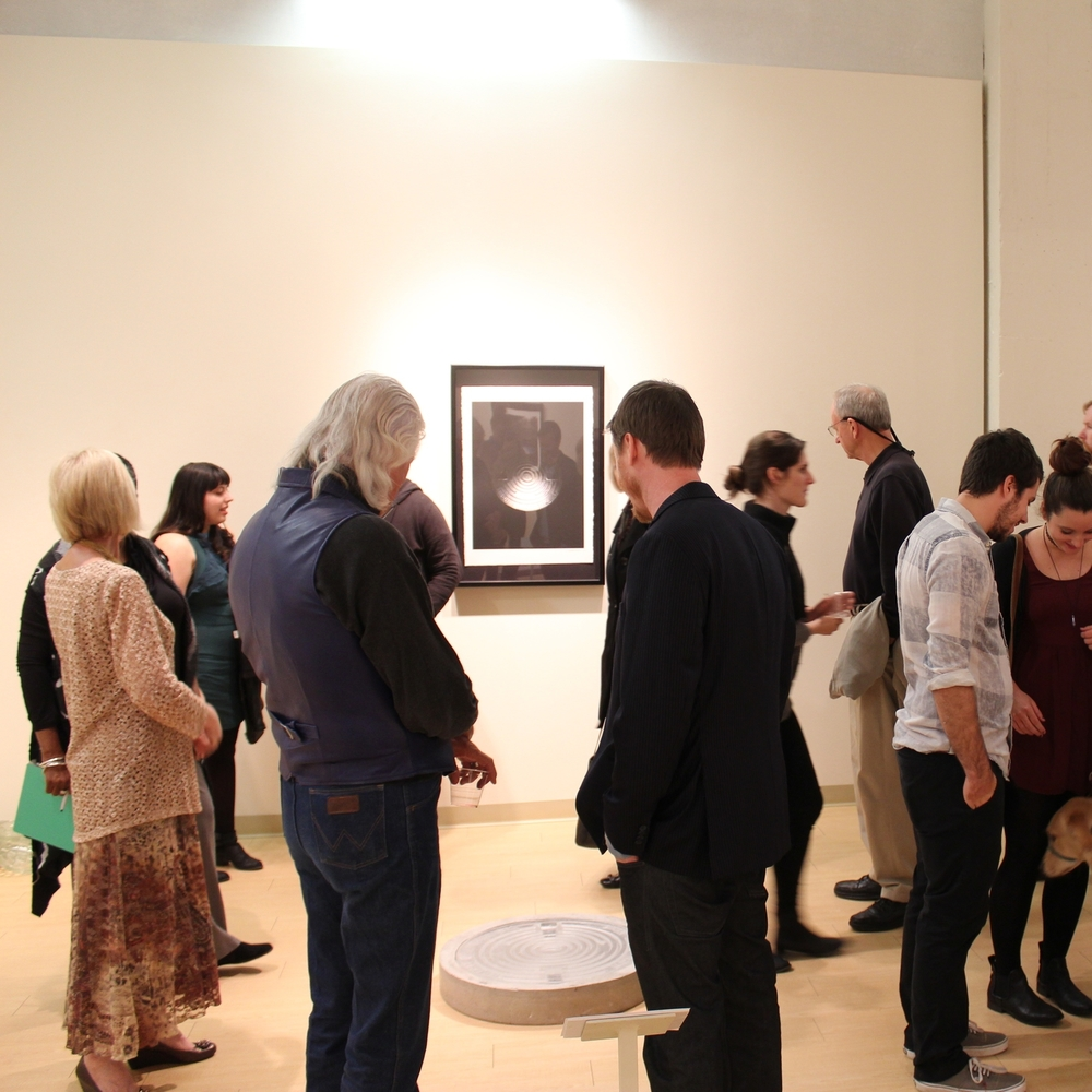 Members enjoy a gallery talk and opening reception with artist Neal Paustian.