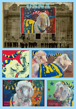 Postcards of Bill the Goat for United States Naval Academy