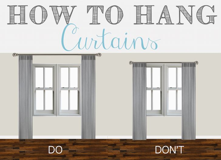The Do S And Don Ts Of Hanging Curtains Donna Hamaker