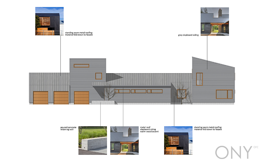 Exterior Elevation and Material Study