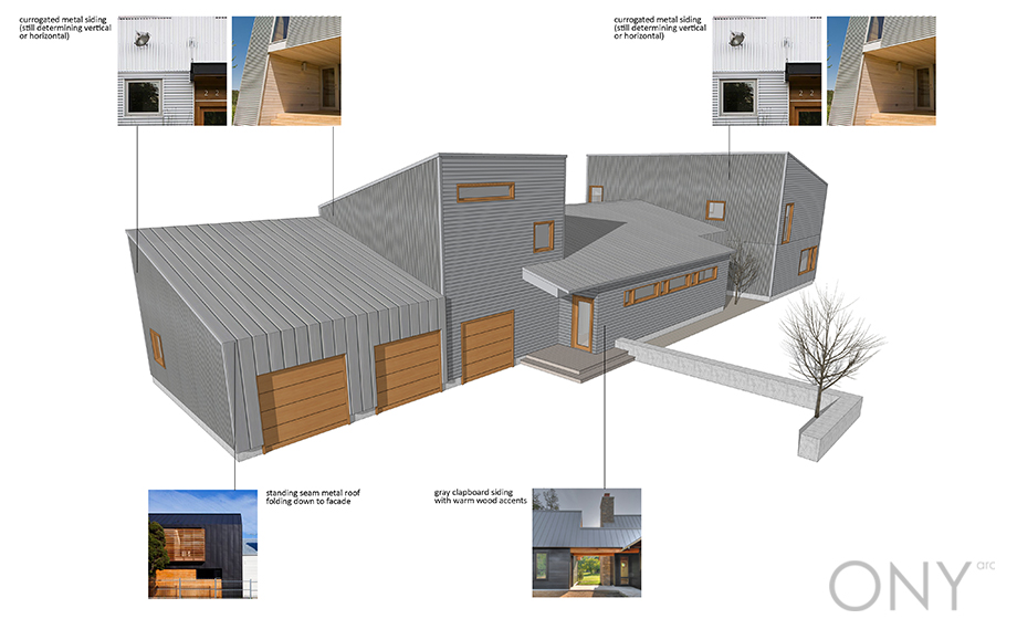 Exterior Massing and Material Study
