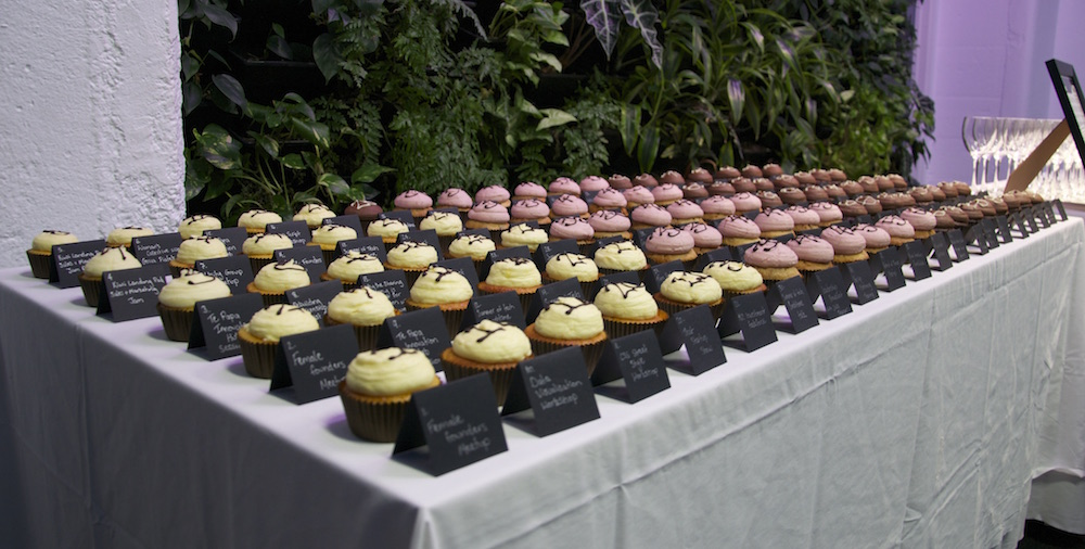 100 cupcakes each representing every event under Collider.