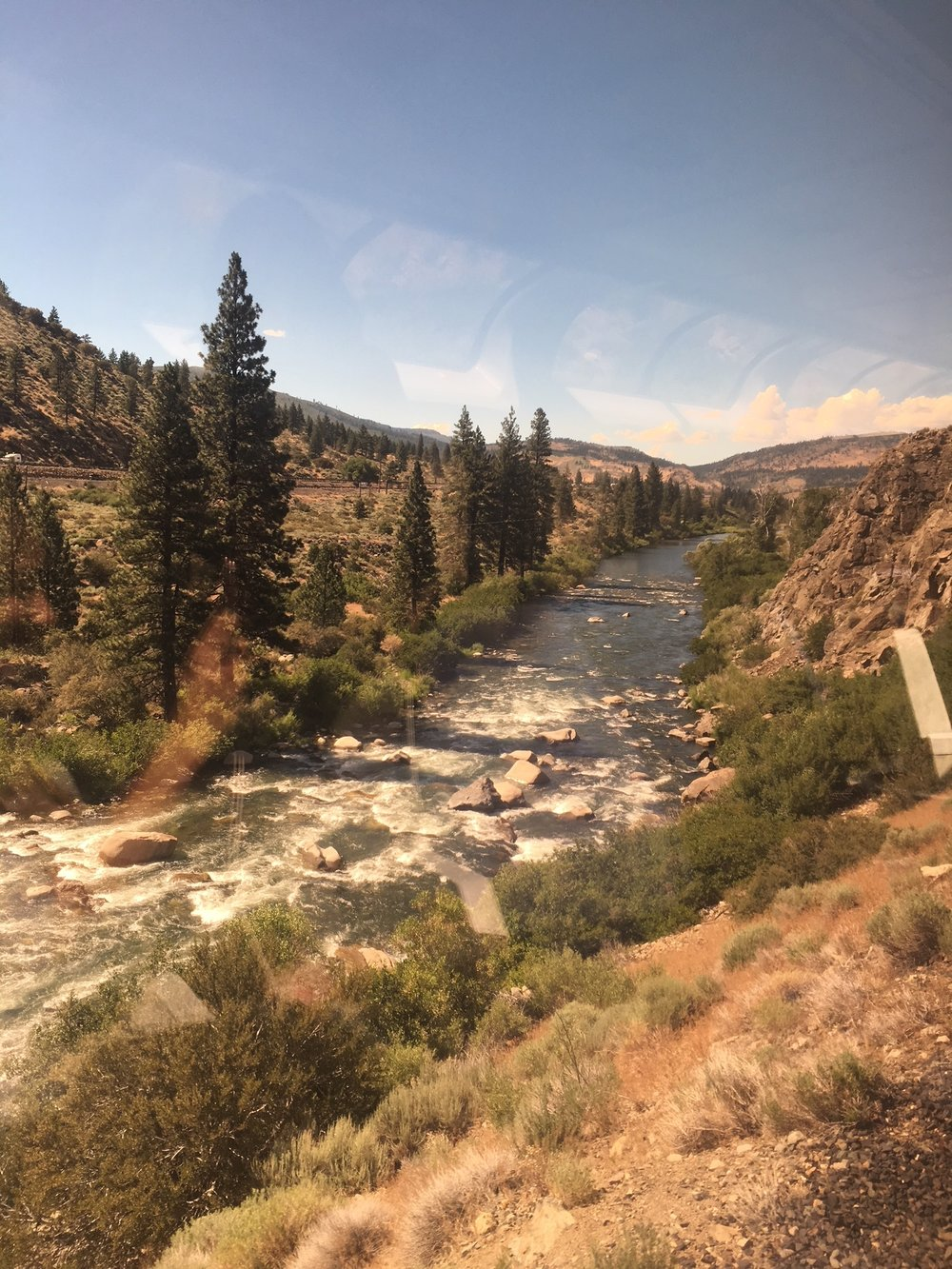 Truckee River from the observation car