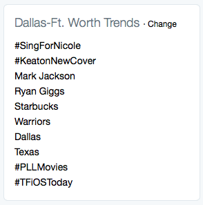 Twitter Trends-Dallas