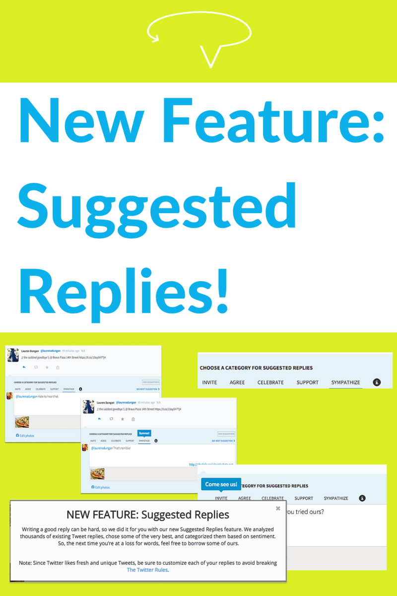 New SocialCentiv Feature Suggested Replies