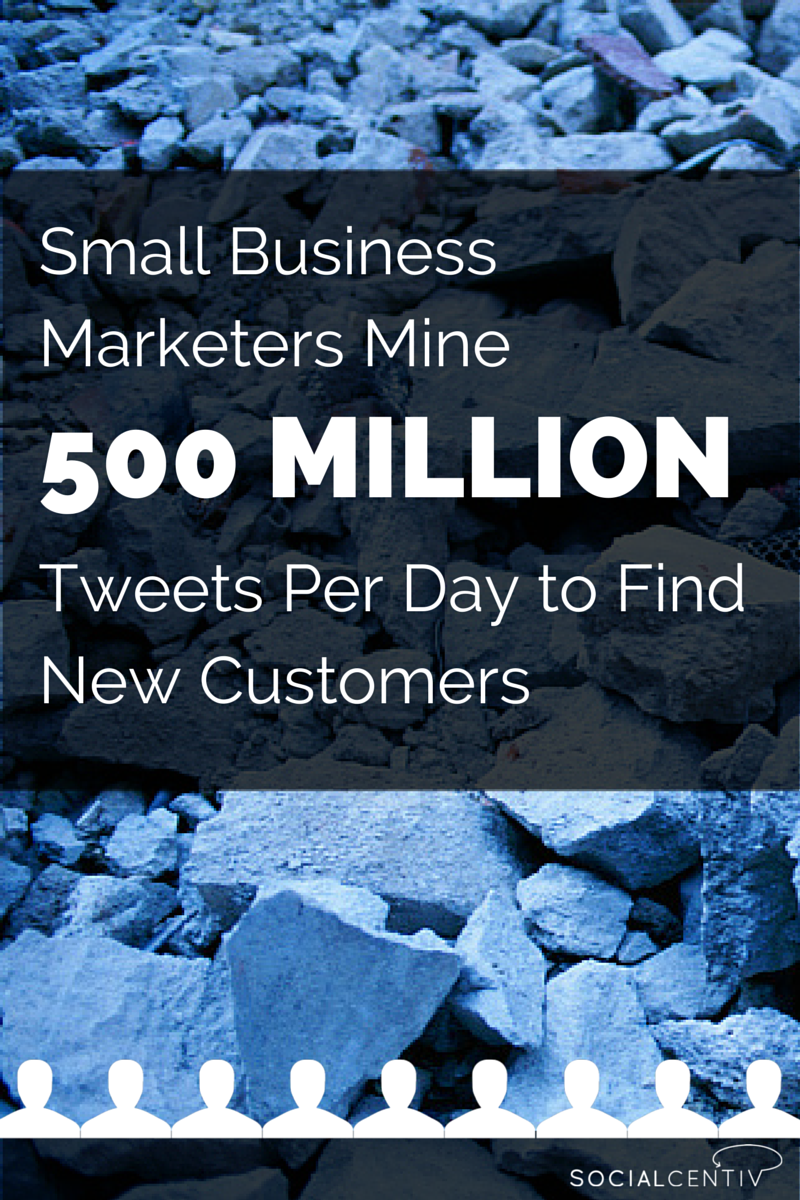 Small Business Marketers Mine 500M Tweets per day to find new customers