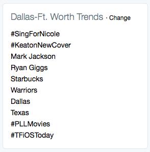 Twitter Trends-Dallas
