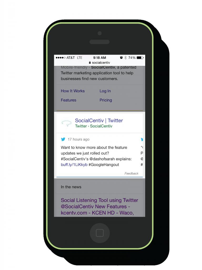 SocialCentiv Google Tweet Search