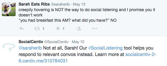 SocialCentiv Tweet Example
