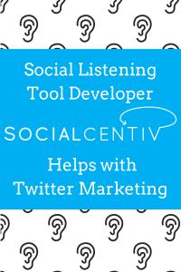 Social Listening Tool Developer SocialCentiv Helps with Twitter Marketing