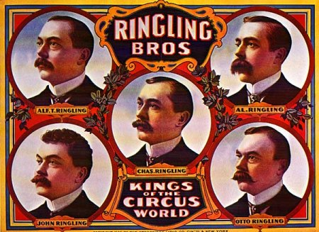1884- Ringling Brothers circus premieres