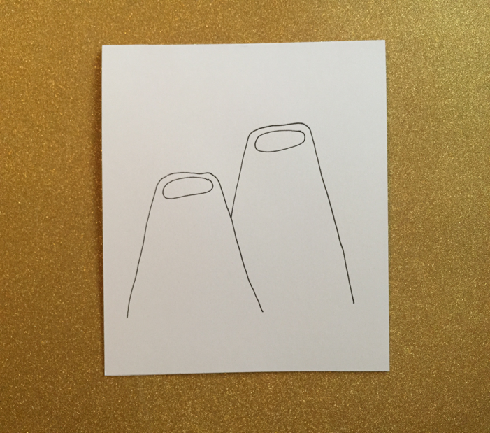 Then, draw two oval openings.