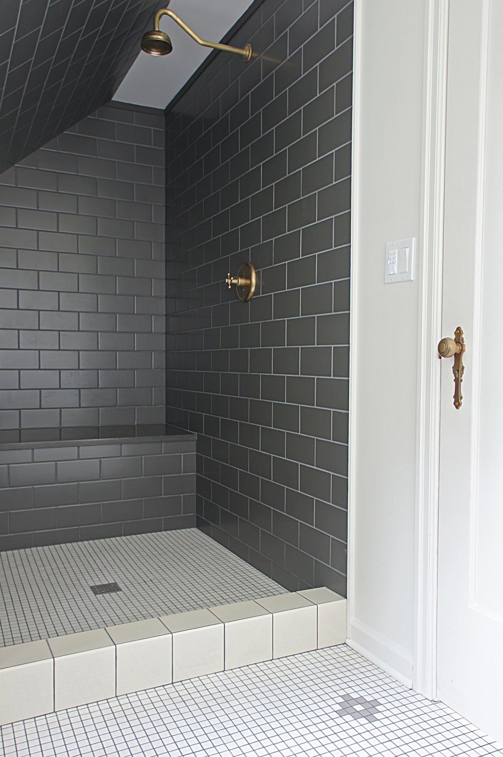 Charcoal Shower by Kaemingk Design