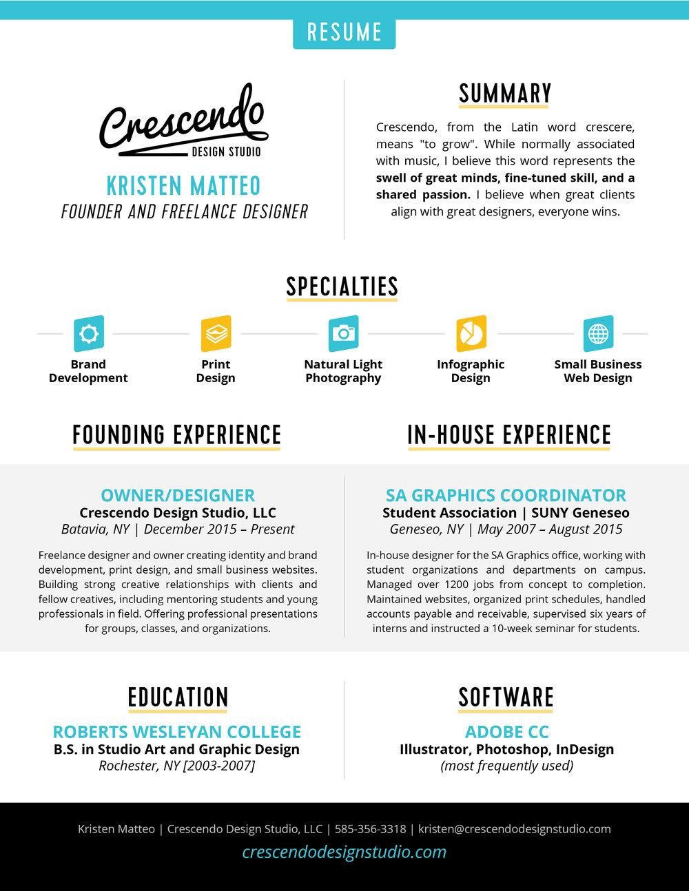 crescendo design studio resume