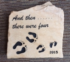 Engraved rock Baby Arrival