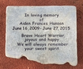 Rock engraved Memorial
