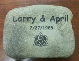 Engraved rock Wedding Anniversary