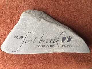 Rock engraved Baby Shower Gift