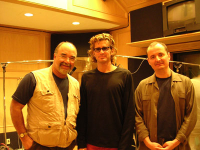 first day of tracking, peter erskine, darek oleszkiewicz, & myself