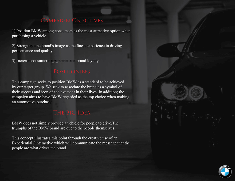 bmw objectives