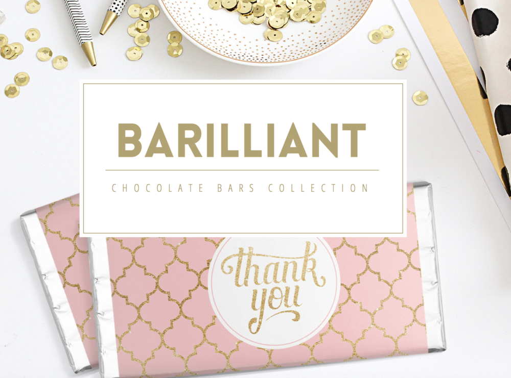 Barilliant  - Customised Chocolate bars for your occasion. Heather really ensures that you are 100% happy with your product and spends time working with you to customise your design specifically for your occasion.